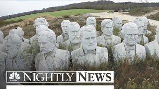 43 Massive Statues of US Presidents Lie Unused In Virginia Field   NBC Nightly News