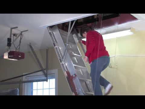 Precision Ladders Automatic Super Simplex Wireless Disappearing Attic Stairs