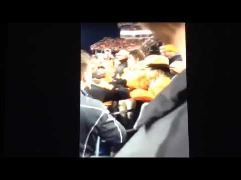 Tennessee Volunteers fans fighting in the stands at Music City Bowl 12/30/16