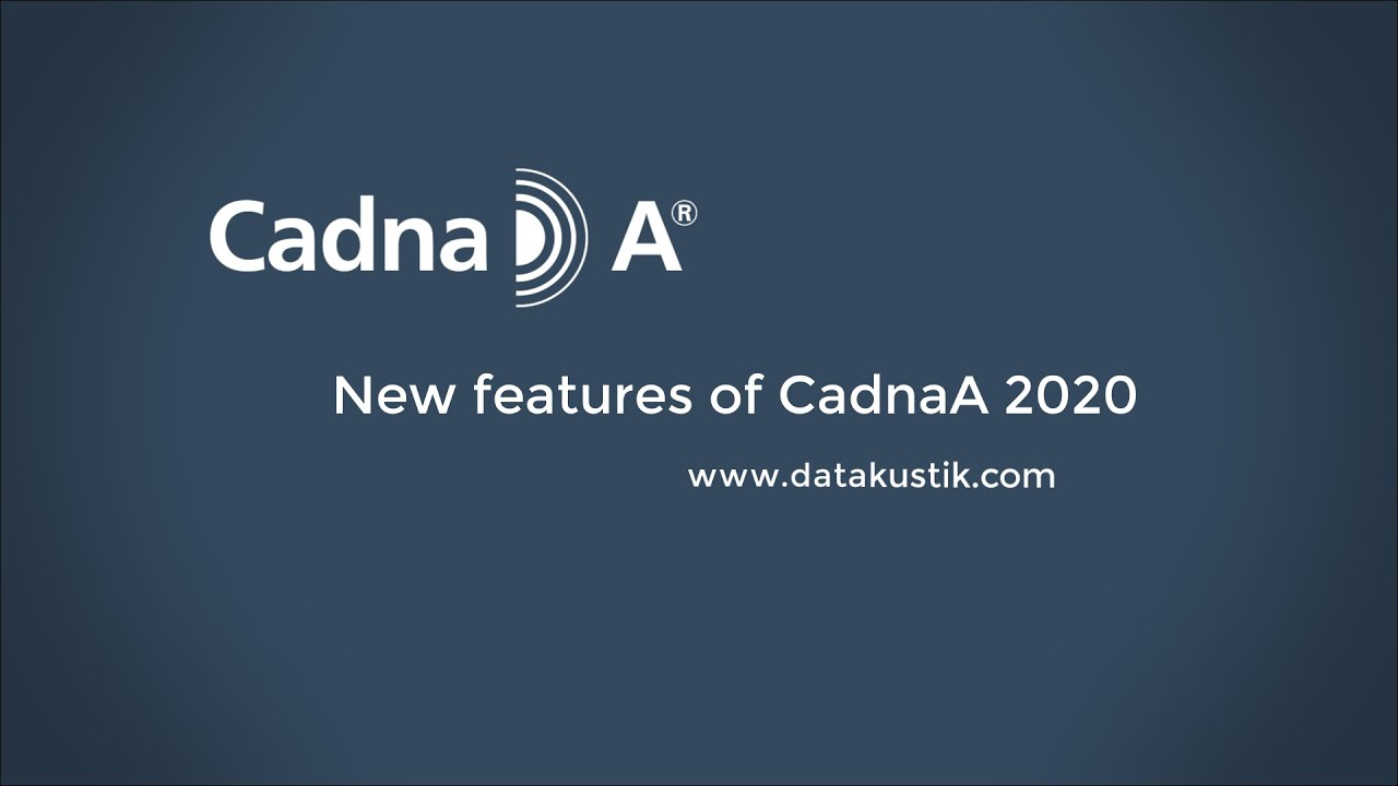 CadnaA 2020 New Features