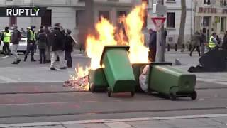 Yellow Vest Unrest: Nantes & Strasbourg among French cities seeing violent protests