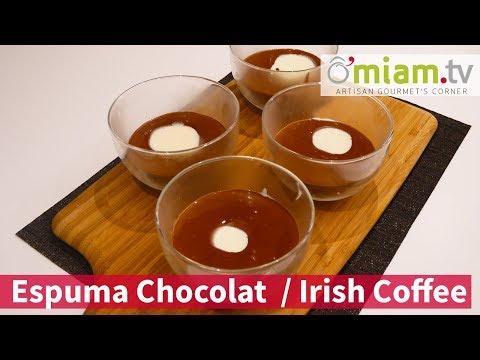recette-▶-irish-coffee-☕---espuma-de-chocolat🍫---rhum-😍