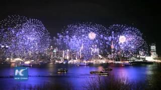 Chinese New Year Fireworks Show in New York City 纽约举行盛大焰火表演庆祝中国农历猴年新年