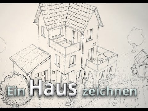 ein haus zeichnen konturierung outlines tusche haus 02 youtube. Black Bedroom Furniture Sets. Home Design Ideas
