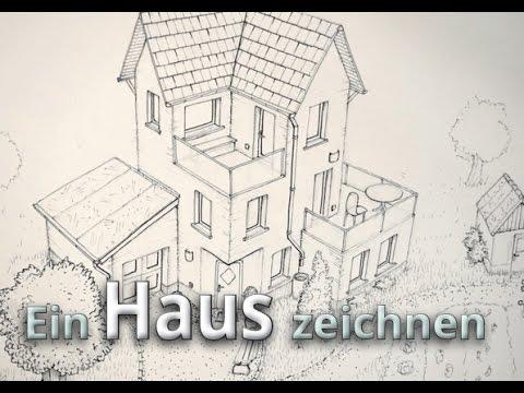 ein haus zeichnen konturierung outlines tusche haus 02 youtube