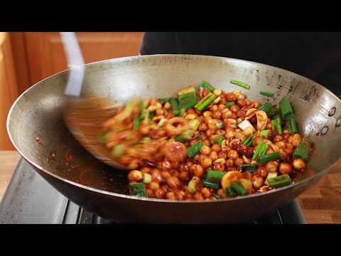 Spicy Guizhou Kung Pao With Crunchy Chickpeas | Vegetarian Dish That beats Original Kung Pow Chicken
