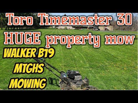 toro-timemaster-huge-mow-/-walker-mowers-mowing-//-countryside-vlogs