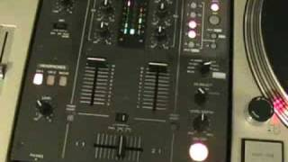 DJ Tutorial, Working with the X fade and EQ in the mix. Pioneer DJM-400(http://www.djtutor.com/mixerfx http://www.djtutor.com/demos/mixers DJ Tutorial, Working with the X fade and EQ in the mix. rememberb to n joy and have fun, ..., 2008-09-21T00:02:55.000Z)