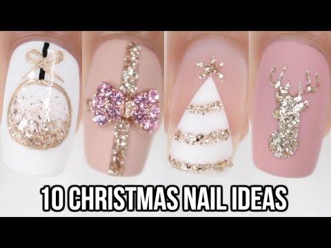 10 Easy Christmas Nail Ideas! | Christmas Nail Art Compilation - YouTube
