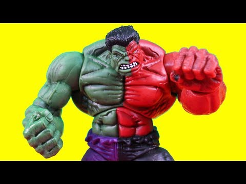 Hulk Smash Brothers Turn Into Compound Hulk + Imaginext batman & Alien Astronaut Space Station