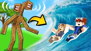 TSUNAMI vs SIREN HEAD w Minecraft! | Vito i Bella