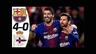 FC BARCELONE vs DEPORTIVO LA CORUNA  Liga Santander 2017 Buts et Rsum du match