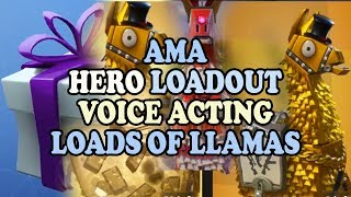 Loads of Llamas | Fortnite Newest New News | AMA | Voices Hero Loadout