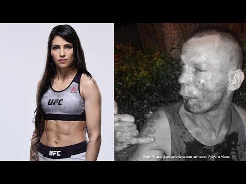 Preman Salah Pilih mangsa, Ternyata yang Ditodongnya Atlet UFC Polyana Viana