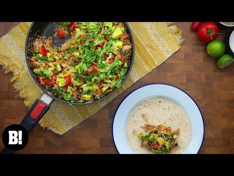 One Pan Burrito 🌯 (Quick, Easy, Vegan Recipe!)