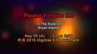 Bryan Adams - Please Forgive Me (Backing Track)