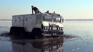 """Испытания вездехода """"Бурлак"""" на воде"""
