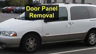 Door panel removal, door or window repairs, Mercury Villager, Nissan Quest - VOTD