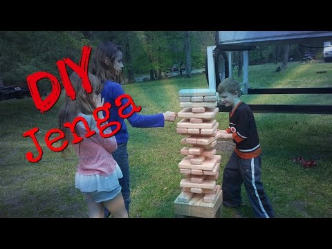 How To Build Giant Jenga Game With Adjustable Base For Camping