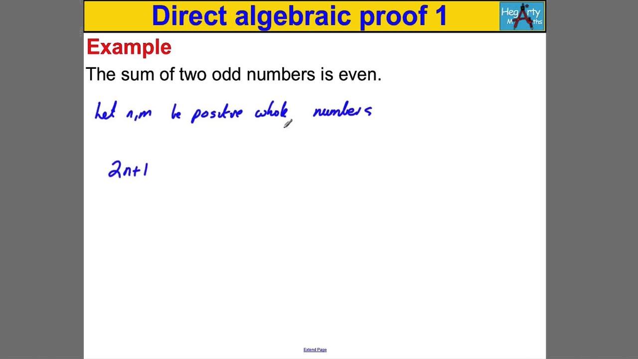Direct algebraic proof 1 youtube falaconquin