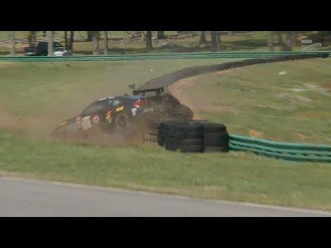 Pirelli World Challenge (SprintX GTS) 2018. Race 2 Grand Prix of Virginia. Crash   Spins