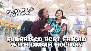 surprising best friend with her dream holiday *emotional* | clickfortaz