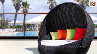 Outdoor Round Day Bed With Canopy Vgcwrb-016