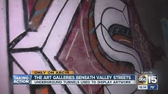 Art galleries beneath Valley streets