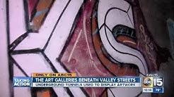 Art galleries beneath Valley streets
