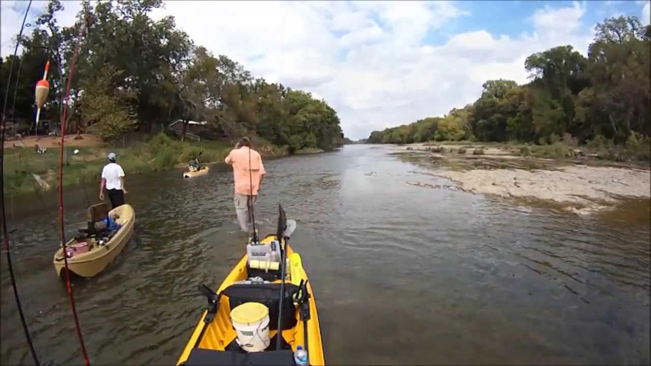 New water brazos river kayak fishing youtube for River fishing kayak
