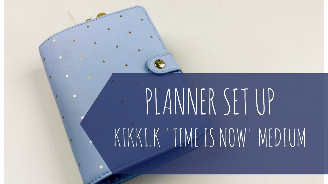 planner set up personal medium size kikki k time is now
