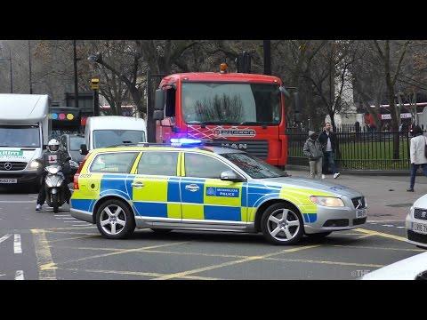 London Police Car responding stuck in traffic