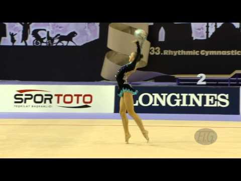 DURUNDA Marina (AZE) - 2014 Rhythmic Worlds, Izmir (TUR) - Qualifications Ball