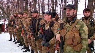 Chechenos combatiendo junto a los prorrusos en Ucrania