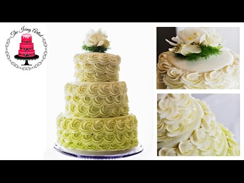 Three Tier Rosette Wedding Cake - How To With The Icing ...