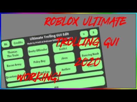 Ultimate Trolling Gui Utg Script 2020 Youtube