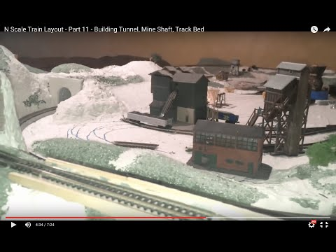 Build An N Scale Train Layout – Part 12 – Building Tunnel, Mine Shaft, Track Bed