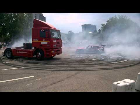 Truck Festival Bucharest 2015-Daf ATI and BMW E36 Drift