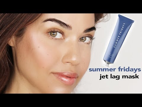 How to get rid of tired, dull skin fast! Summer Fridays Jet Lag Mask Review | Eman