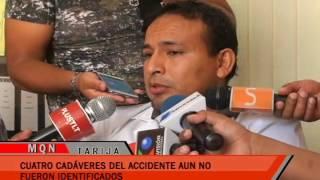 CUATRO CADÁVERES DEL ACCIDENTE AUN NO FUERON IDENTIFICADOS