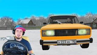 ЕДУ ЗИМОЙ К БАБУШКЕ В ДЕРЕВНЮ - City Car Driving + РУЛЬ