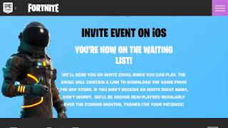 How to get fortnite mobile without INVITATION CODE