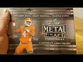 2017 Leaf Metal Draft Football Hobby Box. 5 Autos per Box