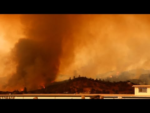 Wildfire Near San Andreas (California), Calaveras County (09-11-2015).