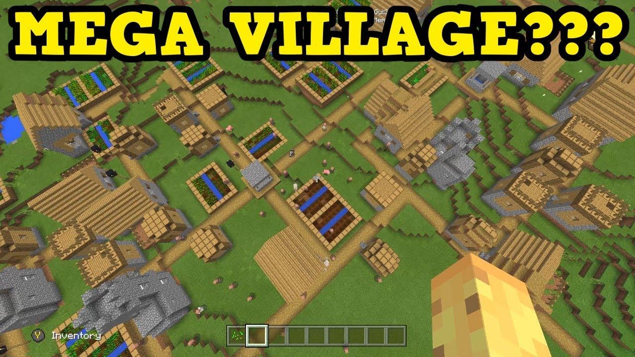 Minecraft PE / Xbox - BIGGEST VILLAGE EVER