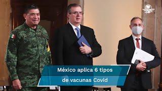El secretario de Relaciones Exteriores, Marcelo Ebrard informó que se cumplió el compromiso del gobierno federal de a que a finales de mes se contaría con 50 millones de dosis de vacunas contra el Covid-19