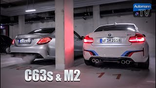 AMG C63s & M2 LCI - Cold-Start SOUNDs (60FPS)