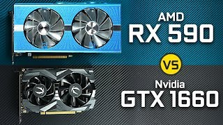 GTX 1660 vs AMD RX 590
