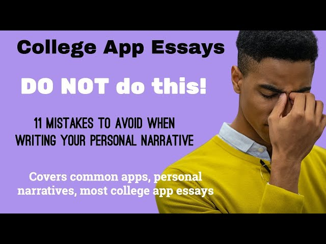 Personal Narrative: 11 Mistakes Students Make