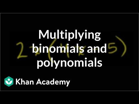 Multiplying Binomials And Polynomials | Algebra Basics | Khan Academy